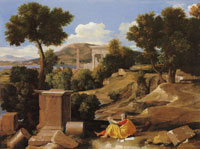 Nicolas Poussin Landscape with Saint John on Patmos