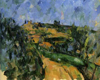 Paul Cézanne The bend in the road above the Chemin des Lauves