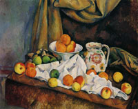 Paul Cézanne Compotier, Pitcher, and Fruit