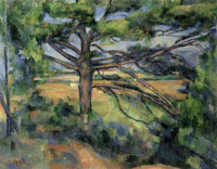 Paul Cézanne Large pine and red earth