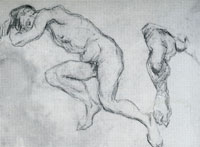 Paul Cézanne Male nude
