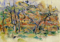 Paul Cézanne Trees and houses