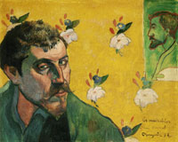 Paul Gauguin Self-Portrait Dedicated to Vincent van Gogh
