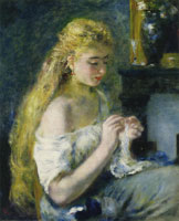 Pierre-Auguste Renoir Girl Crocheting