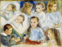 Pierre-Auguste Renoir Sketches of Heads (The Berard Children)