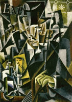 Lyubov Popova Cubist construction (Portrait of a philosopher)