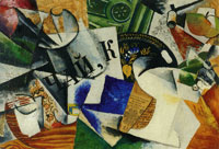 Lyubov Popova Still life with tray