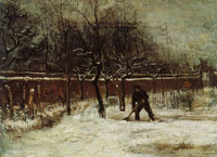 Vincent van Gogh The parsonage garden in the snow