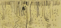 Vincent van Gogh Sketch of In the Forest