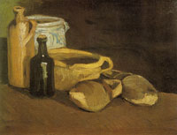 Vincent van Gogh Still life with pottery and clogs