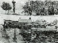 Vincent van Gogh Bank of the Seine with boat