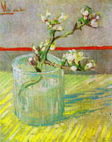 Vincent van Gogh Blossoming Almond Branch in a Glass