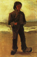 Vincent van Gogh Fisherman on the beach