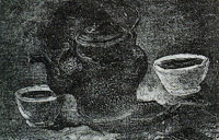 Vincent van Gogh Kettle and two bowls