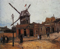 Vincent van Gogh The Moulin de la Galette