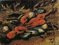 Vincent van Gogh Mussels and shrimps