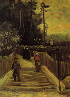 Vincent van Gogh A path in Montmartre