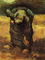 Vincent van Gogh Peasant woman, digging