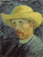 Vincent van Gogh Self-portrait with straw hat