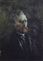 Vincent van Gogh Self-portrait with Pipe