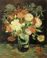 Vincent van Gogh Vase with carnations