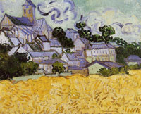 Vincent van Gogh View on Auvers with Church