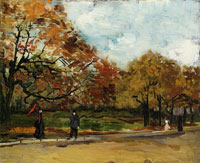 Vincent van Gogh View of a park in Paris