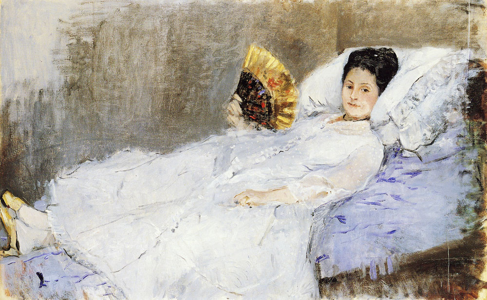 Berthe Morisot - Woman with a Fan, Portrait of Madame Marie Hubbard