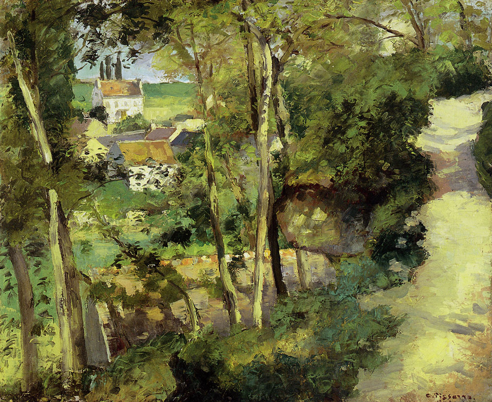 Camille Pissarro - The climbing path, L'Hermitage, Pontoise