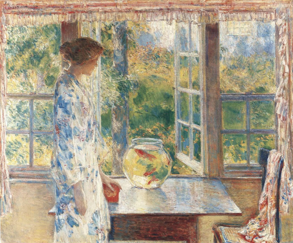 Childe Hassam - Bowl of Goldfish