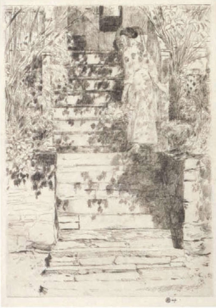 Childe Hassam - The steps