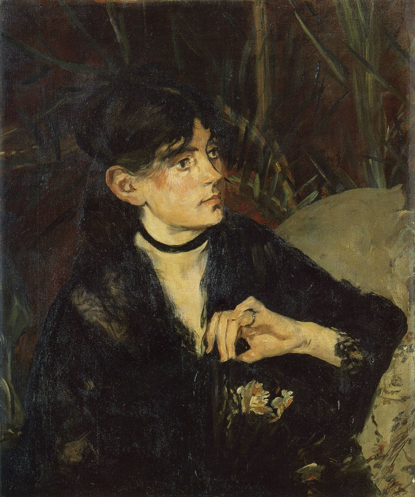 Edouard Manet - Portrait of Berthe Morisot with a Fan