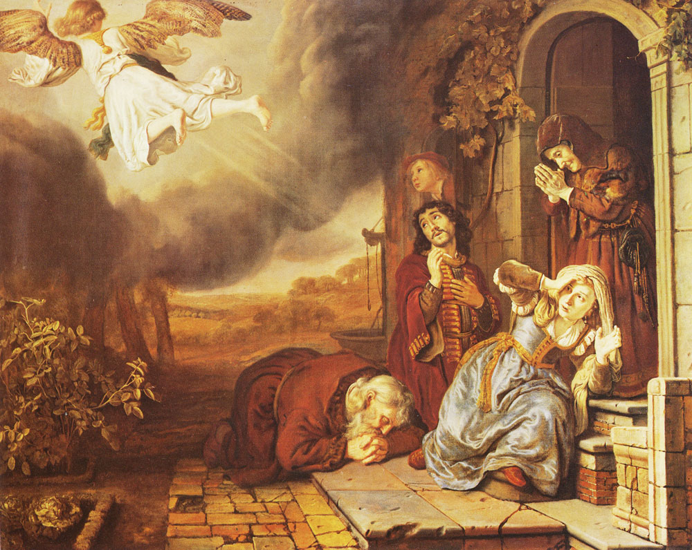 Jan Victors - The angel leaves Tobias' family