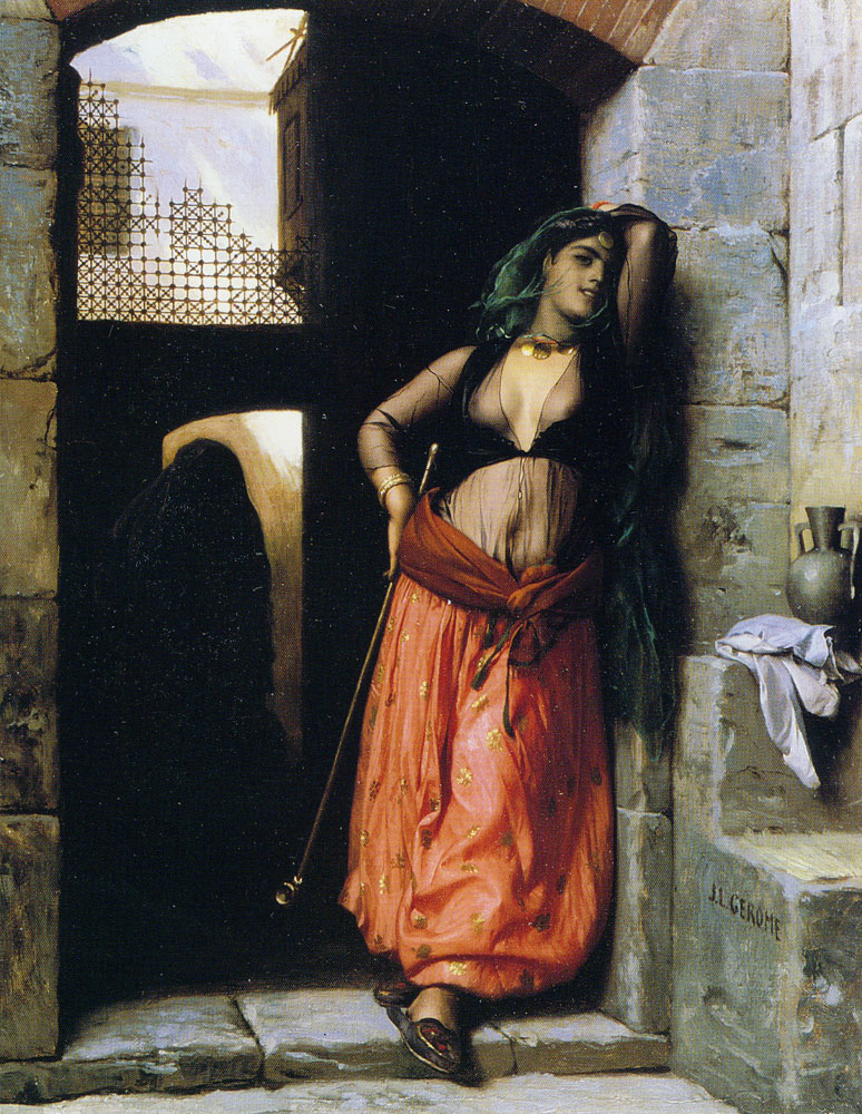 Jean-Leon Gerome - The almeh (with pipe)