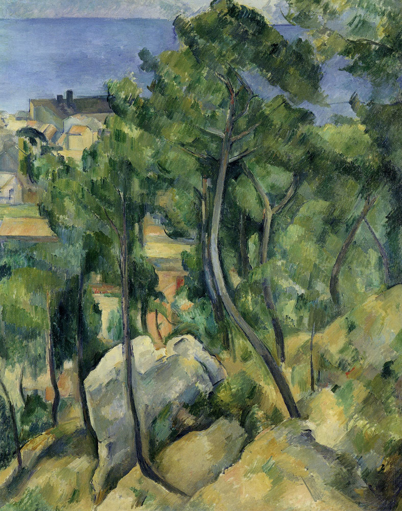 Paul Cézanne - L'Estaque: Rocks, pines and sea