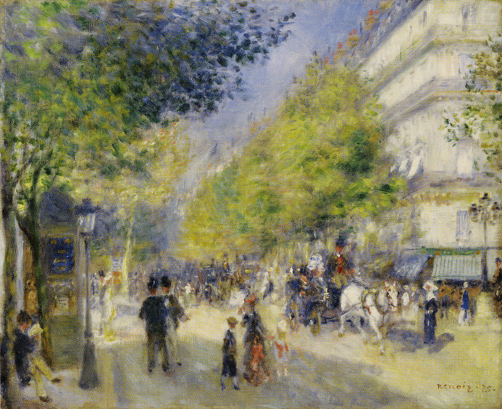 Pierre-Auguste Renoir - The Grand Boulevards