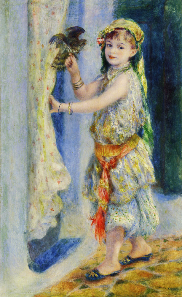 Pierre-Auguste Renoir - Child with a Bird (Mademoiselle Fleury in Algerian Costume)