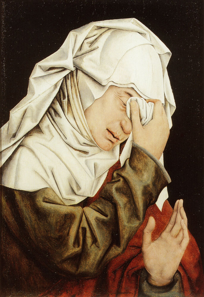 After Rogier van der Weyden - Weeping Woman