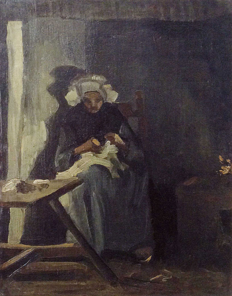 Vincent van Gogh - Peasant woman, sewing