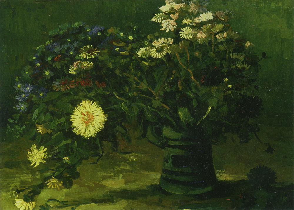 Vincent van Gogh - Still life with a bouquet of daisies