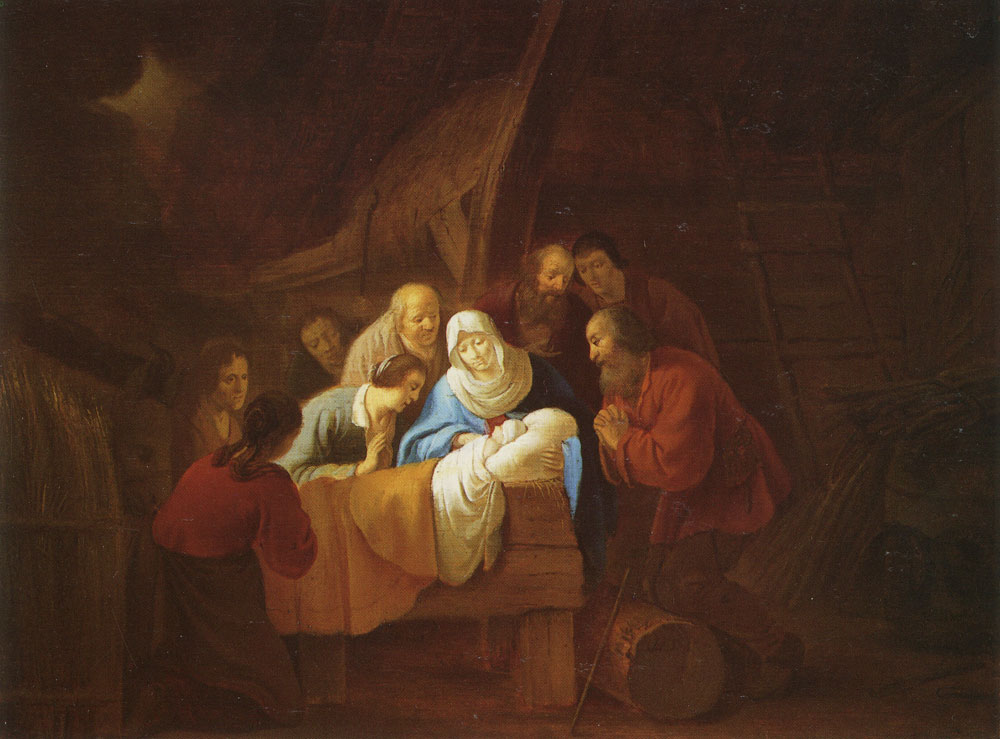 Willem de Poorter - The adoration of the shepherds