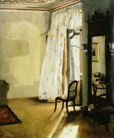 Adolph Menzel The Balcony Room