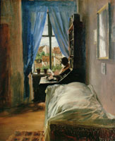 Adolph Menzel The Artist's Bedroom in Ritterstrasse