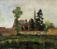 Camille Pissarro Church and farm at Eragny
