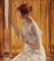 Childe Hassam The Flag Outside Her Window (The Boys Marching By)