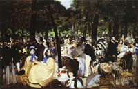 Edouard Manet Music in the Tuileries Gardens