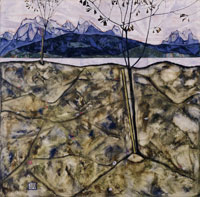 Egon Schiele River Landscape with Two Trees