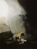 Francisco Goya Bandit Murdering a Woman (The Bandits' Attack III)