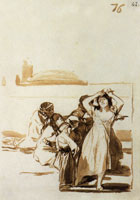Francisco Goya A Disheveled Woman with a Group