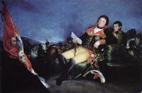Francisco Goya Godoy as Commander in the War of the Oranges
